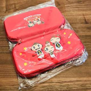 OCBC Mighty Savers Red Pencil Case