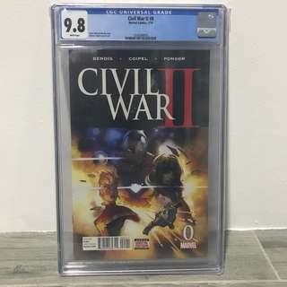 Civil War II #0 CGC 9.8