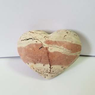 🈹Natural heart shape stone 罕有立體心形石頭擺件
