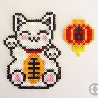 Lucky Fortune Cat Hama Designs