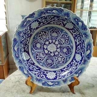 Ceramic Porcelain Plate Antique Antik 50