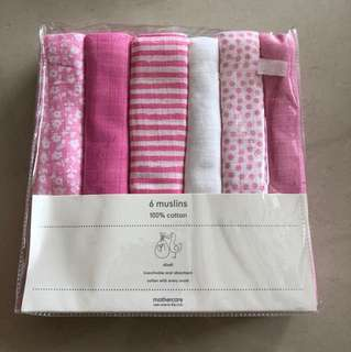 Brand new Mothercare muslins