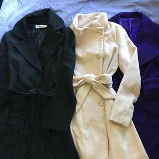 Women's winter coats size 8 - 10