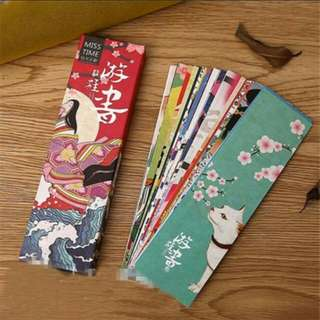30pcs/Set Japanese Bookmark
