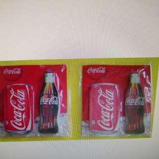 可口可樂 樽及罐形 memo pad 共2包