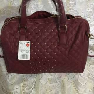 Mango Red Quilted Doctor Bag