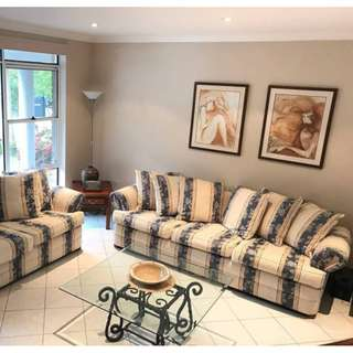 Lounge suite sofa couch - A Beautiful matching set custom made