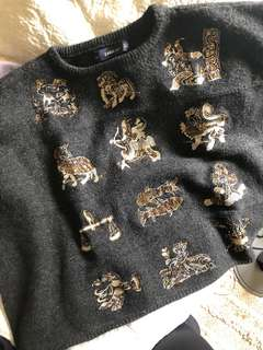 Zara Star Sign Astrology Knit Jumper