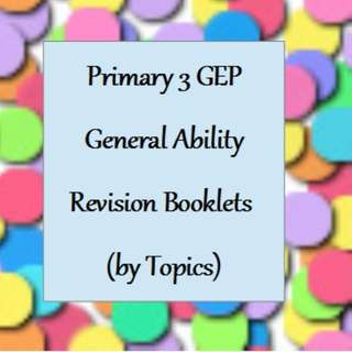 Pri 3 GEP General Ability Revision Booklets (by Topics)