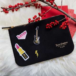 全新 Juicy Couture 黑色 DIY 利是封袋 / 化妝袋