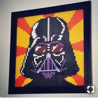 Star wars Darth Vadar Hama Bead Designs