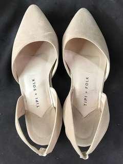 Cream Suede Flats