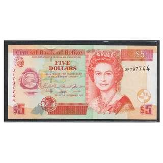 (BN 0095-1) 2007 Belize 5 Dollars, TDLR - UNC