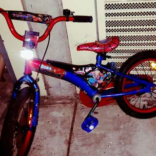 "Spider man Kids 16"" bike"