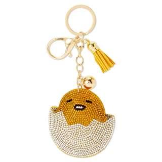 Japan Sanrio Gudetama Glitter Leather Key Holder