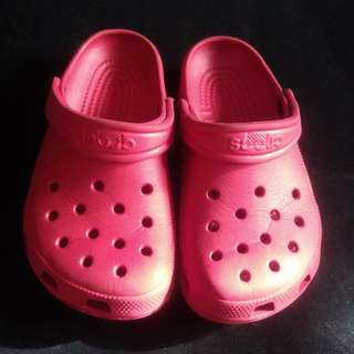 ORIGINAL RED&DARK BLUE CROCS(C10 11)
