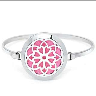 Flower ~ Essential Oil surgical Stainless Steel Perfume Diffuser Oils Locket Bangle