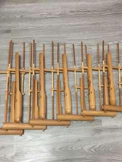 Angklung from Jogjakarta - 6 pieces