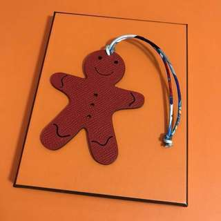 Hermes petit h gingerbread man bag charm two tone