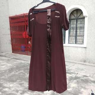 Semi formal brown dress