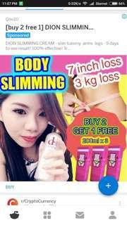 Qoo10 Best Seller Slimming Cream No Rebound!