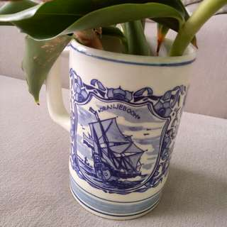 (Antique 25years) Big Porcelain Mug