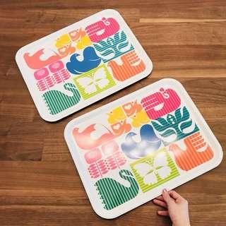 Ikea Bright and Colourful Plastic Tray
