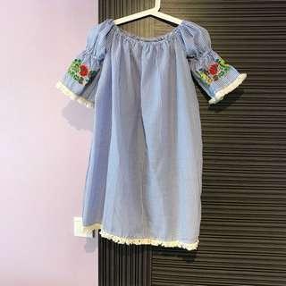 Bohemian Embroidered Offshoulder Dress $90