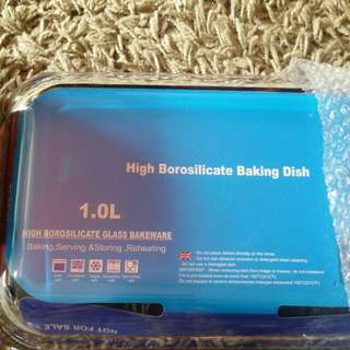High borosilicate baking dish 1 ltr