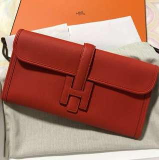 Hermes Jige Elan 29 Clutch Swift Capucine