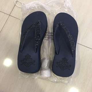 BN Navy blue high heels Sandals slippers