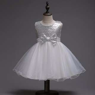 Sequined bow princess dress - 4 colors