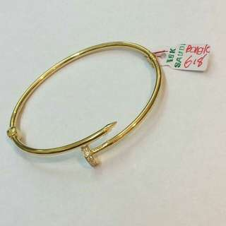 18K Saudi gold bangle pawnable 100% Solid gold