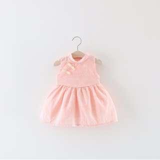 Pink Memories Jiangnan cheongsam dress | for height 73cm ~ 100cm