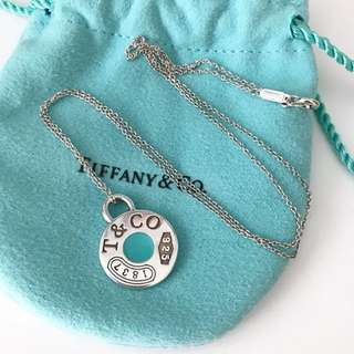 Tiffany and Co Blue Enamel Necklace