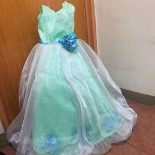 Mint Green Silky Gown