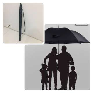 1.5m Wide Huge UV umbrella -full black