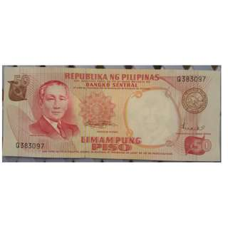 Pilipino Series Commemorative Banknote - Osmena
