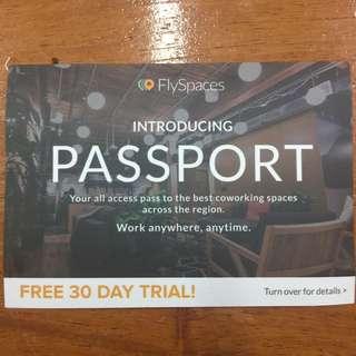 FlySpaces 1 month trial