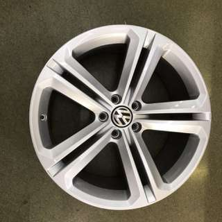 "19"" 5x112 vw tiguan original wheel new paint 1 set $800"