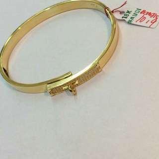 18K Saudi gold bangle pawnable 100% Solid gold