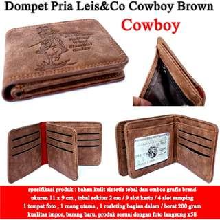 Dompet Murah Pria Leis&Co  Kulit COWBOY brown