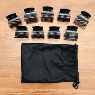 Babyliss Set of 9 Black Heated Hair Roller Clips