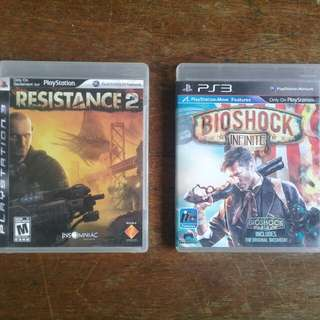 Bioshock Infinite and Resistance 2
