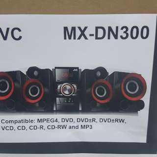 JVC MINI 2.2 DVD COMPONENT SOUND SYSTEM