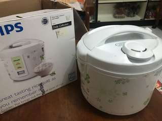 Philips electric rice cooker rarely used, 25$,new one is 49$