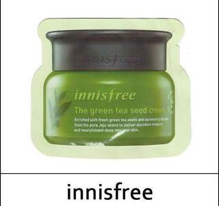 Innisfree greentea seed cream sampler