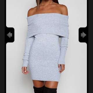 Babyboo Amber Knit Dress In Grey