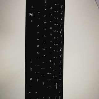 Silicone keyboard protector black
