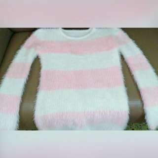 Korean mohair stripe sweater